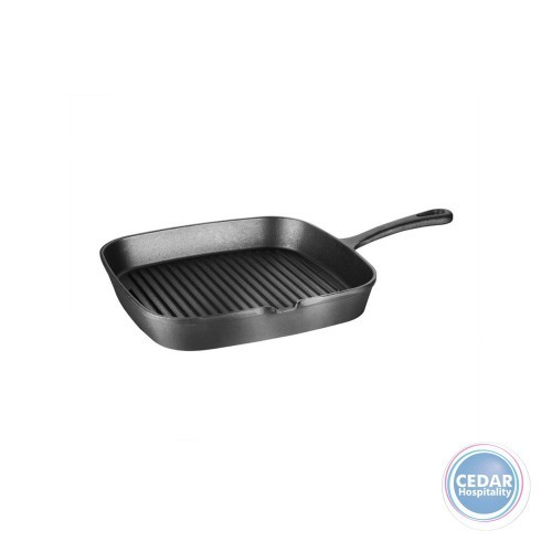 Skillet Cast Iron Square Ribbed - 230 x 230mm