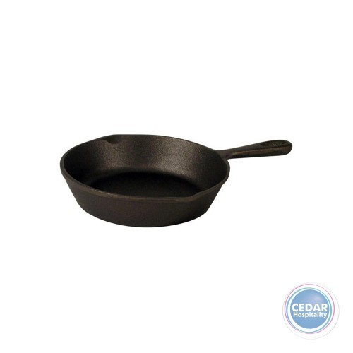 Skillet Cast Iron Plain Round with Handle – 2 Sizes