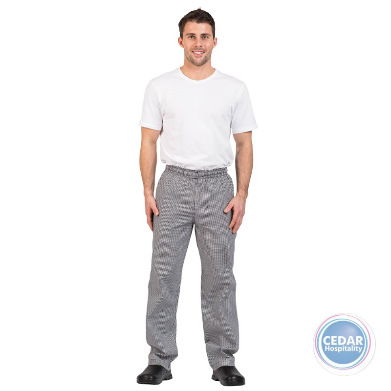 Prochef Traditional Check Drawstring Pants - 5 Sizes