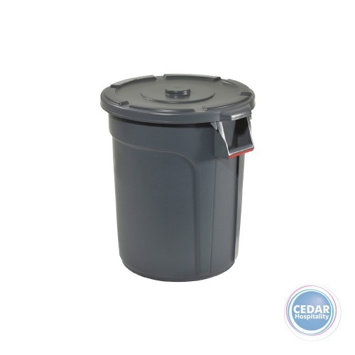 Tuff Round Bin Grey - 3 Sizes
