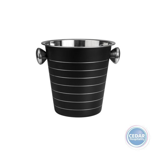 Moda Wine Bucket Stainless Steel 225 x 210mm Black