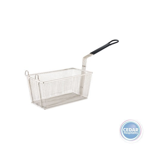 Fry Basket Deep with Black Handle - 350 x 138 x 150mm
