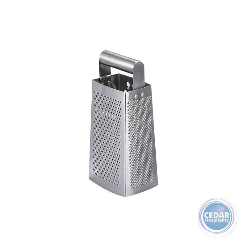 Grater Stainless Steel 4 Sided Tube Handle 240mm