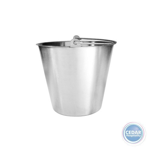 Bucket Water Pail Stainless Steel 13Lt