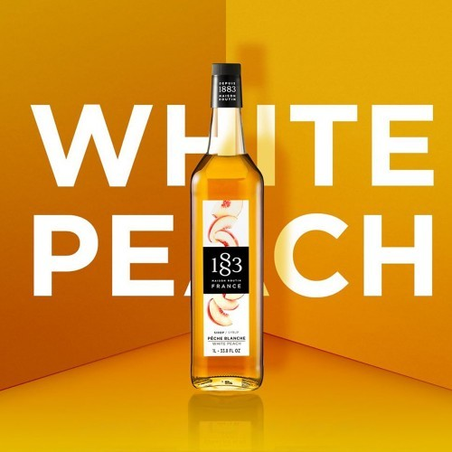 1883 Syrup 1litre - White Peach