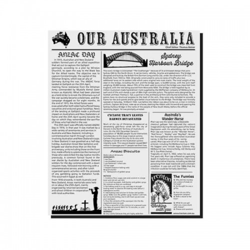 GREASEPROOF PAPER - NEWSPAPER STYLE (31 x 38cm)