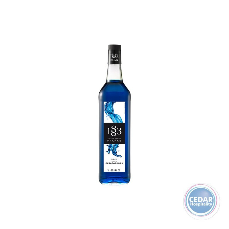 1883 Syrup 1litre - Blue Curacao