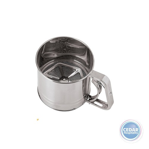 5 Cup Flour Sifter Stainless Steel - Squeeze Handle