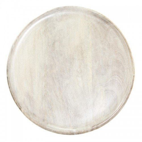 Mango Wood Board Round White