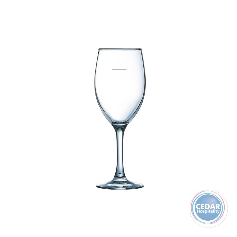 Arcoroc Delica Wine Glass with Line - 2 Sizes - Box Qty Only - 6 P/Box