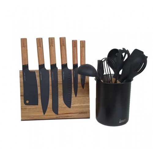 Bialetti Magnetic St. Clare Knife and Utensil Holder Set