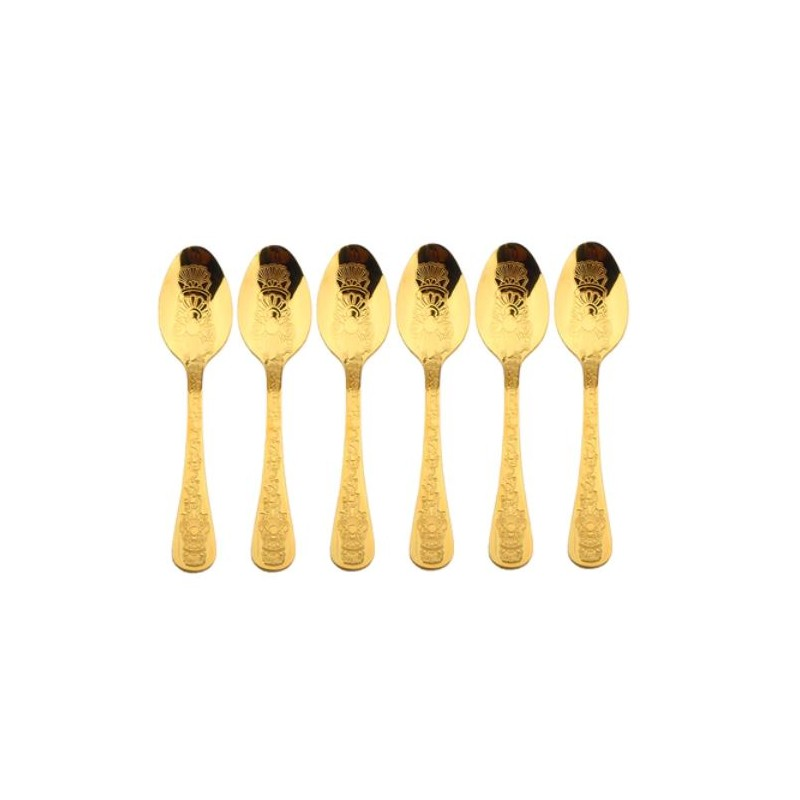 Coffee Culture Gold Coffee Spoon 6/Set