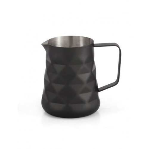 Coffee Culture S/S 600ml Diamond Matte Black Milk Frothing Jug