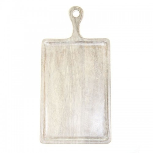 Mango Wood Board Rectangle White with Handle