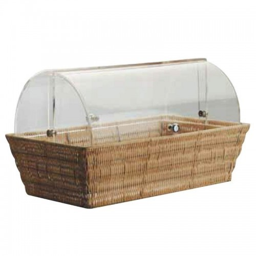 Bread Basket With Rolltop Cover Rectangle