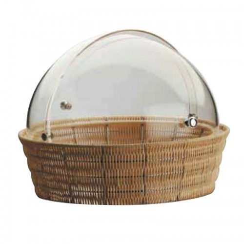 Bread Basket With Rolltop Cover Round