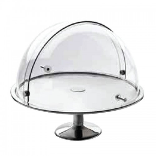 Buffet Cake Stand With Rotating Cloche With Stand