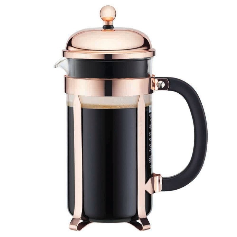 French Press - Chambord Coffee Plunger - 8 Cup - Copper