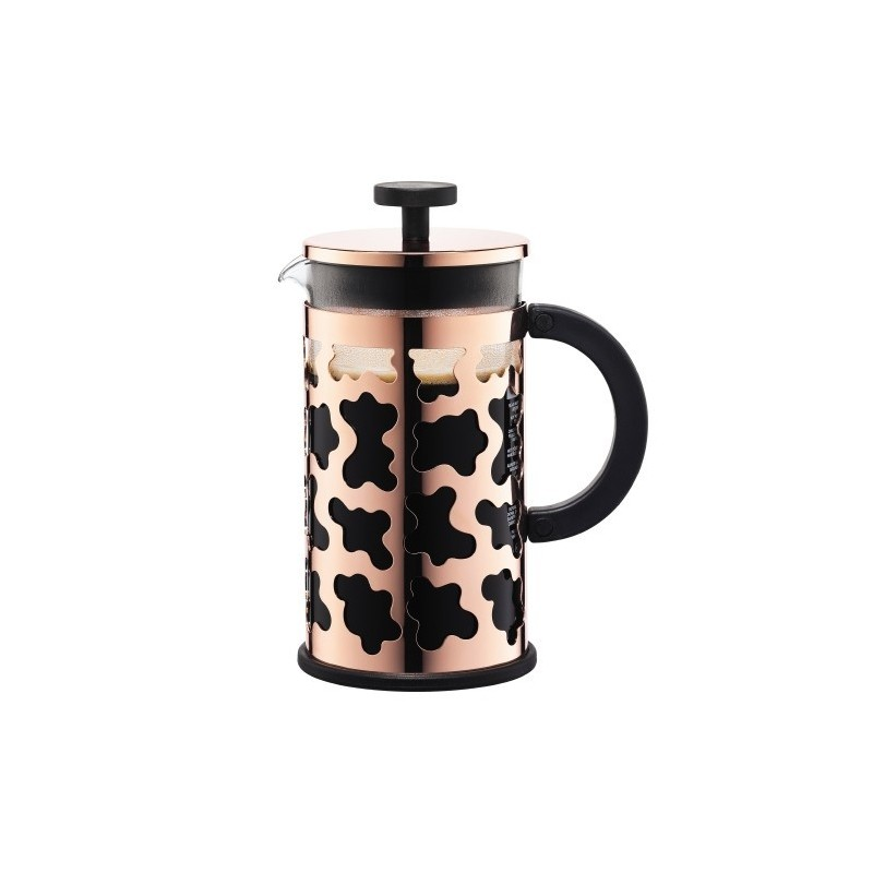 French Press Sereno Coffee Plunger Copper 8 Cup