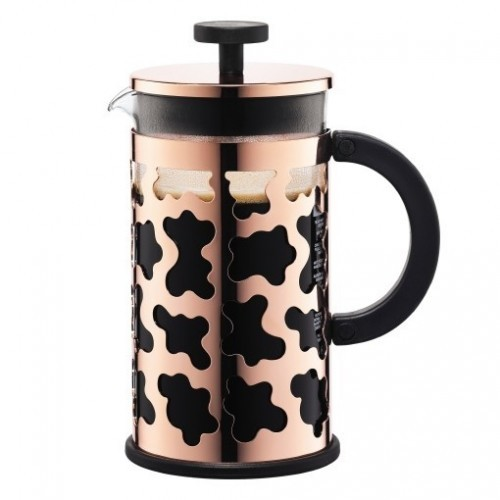 French Press -  Sereno Coffee Plunger Copper  -  8 Cup