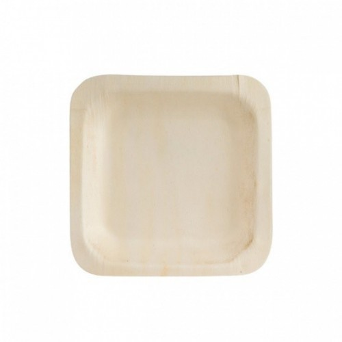 Bio Wood Square Bowl - 140 x 140mm