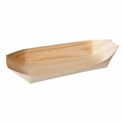 Bamboo Oval Boat - 140 x 75mm