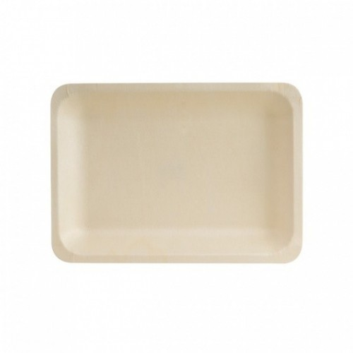Bio Wood Rectangle Plate - 220 x 120mm
