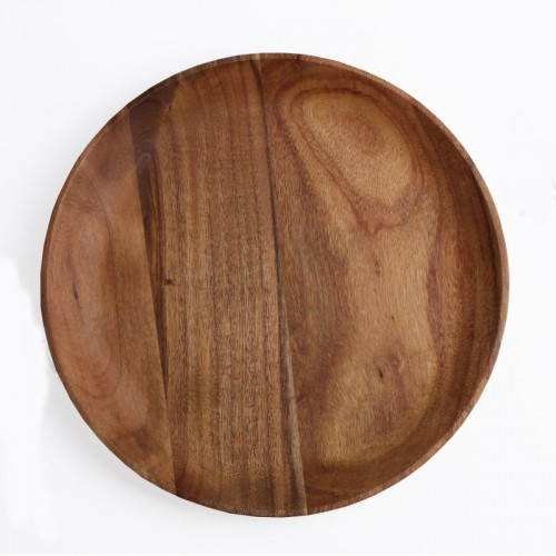 Acacia Wood Round Plate - 3 Sizes