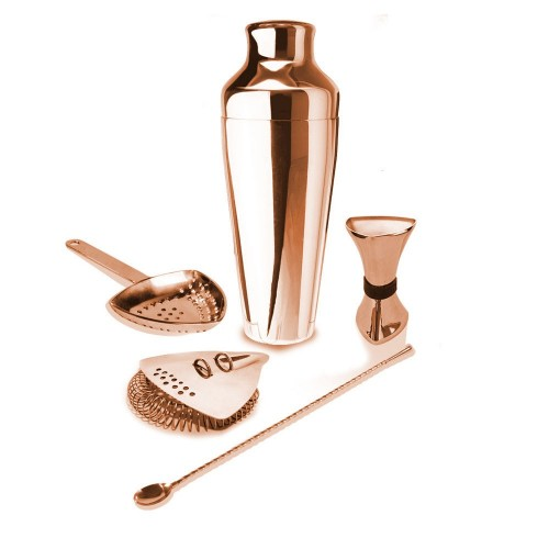 Pro Shaker Kit Copper - 5 Pce Set