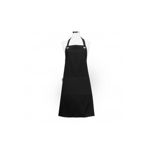 Apron Bib with Pocket Black Eyelet Series
