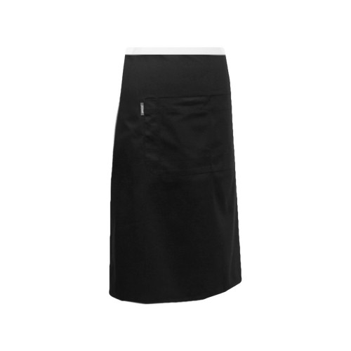 Apron 3/4 Waist with Pocket Black   Eyelet Series