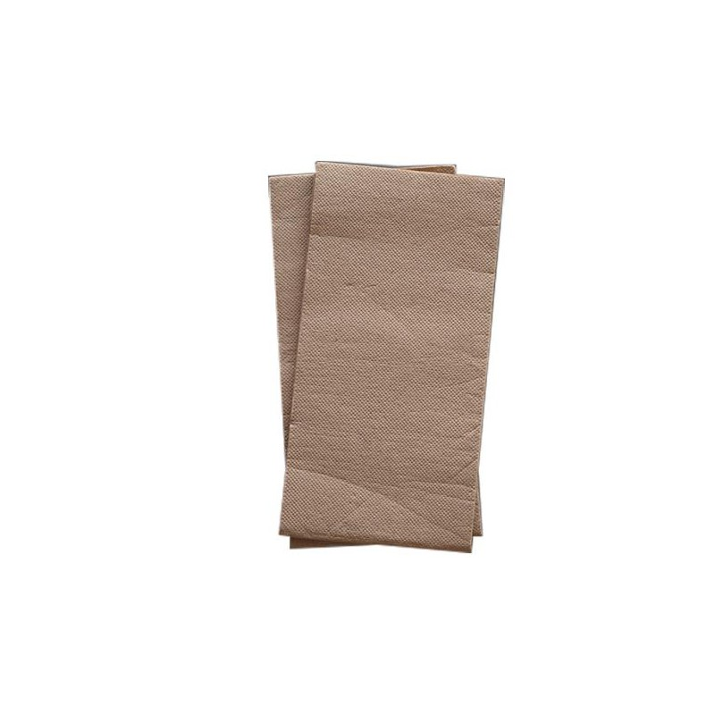 2PLY Quilted Dinner Napkin Readifold -  Recycled Brown