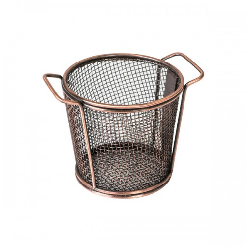 Moda Brooklyn Round Serving Basket  with Handles