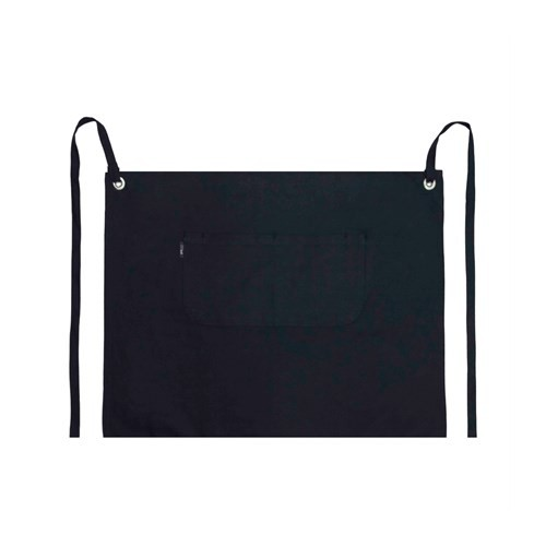 Prochef Eyelet Series Long Waist Apron Canvas-Navy With Pocket