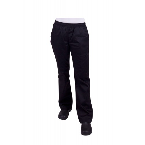 Prochef Womens Chef Pants Black Poly/Cotton