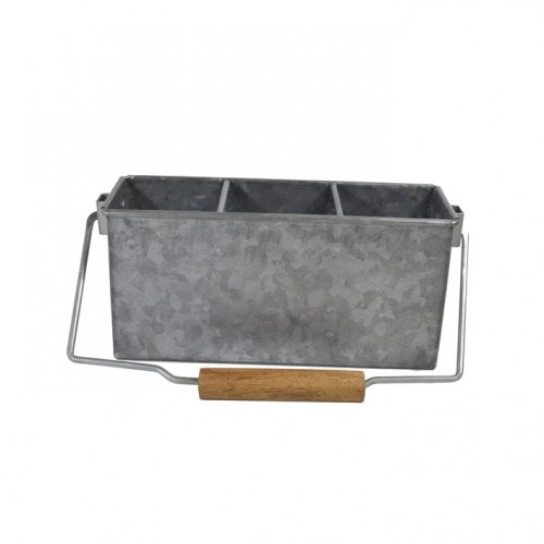 Coney Island Caddy With Handle - Galvanised