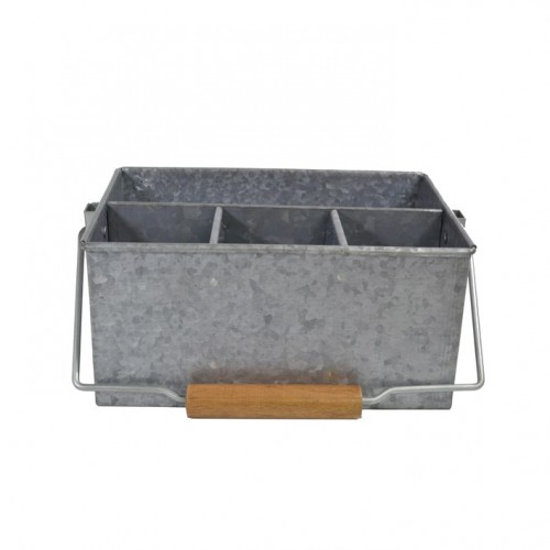 Coney Island 4 Comp Caddy With Handle - Galvanised