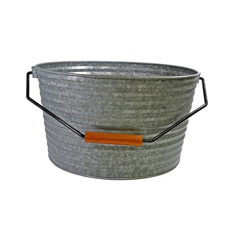Coney Island Beverage Tub With Handle - Galvanised