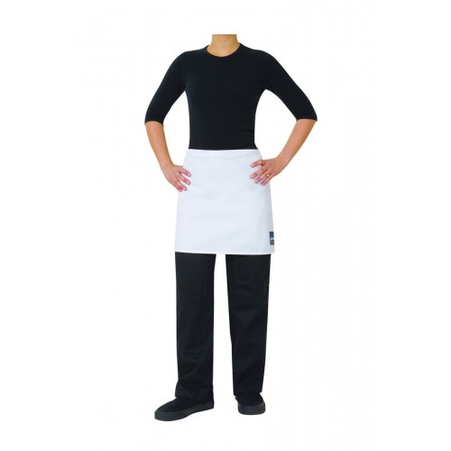 Prochef 1/2 Waist Apron White Poly/Cotton