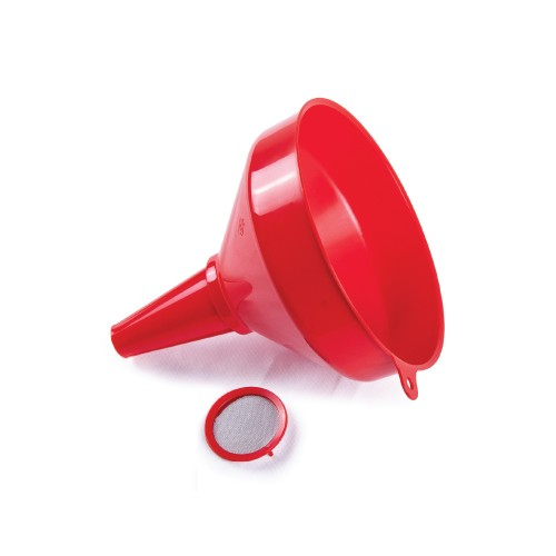 Funnel Red With Strainer - 200mm