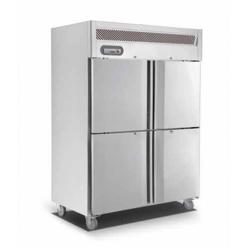 Saltas Upright Double Split Door S/S Fridge