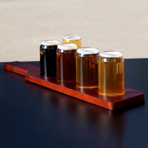 Libbey Wood Serving Paddle Flight 4-Well