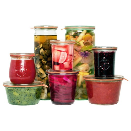 Weck Cylinder Glass Jar with Lid