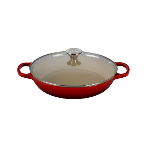Le Creuset Signature Shallow Casserole 30cm with Glass Lid