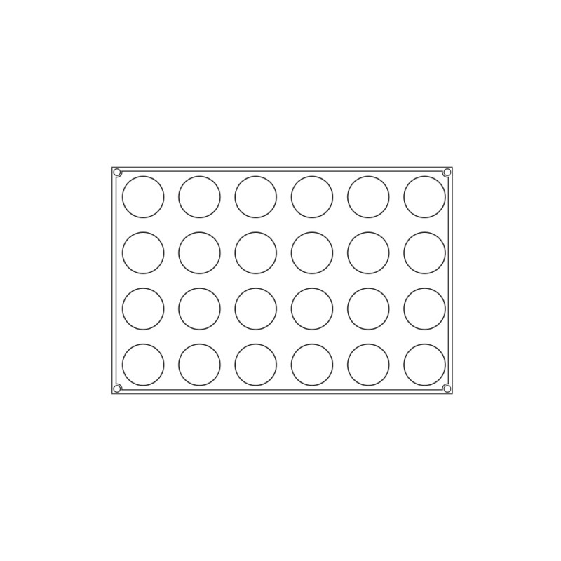 Pavoni Pavoflex Muffin Mould - 24 Indents