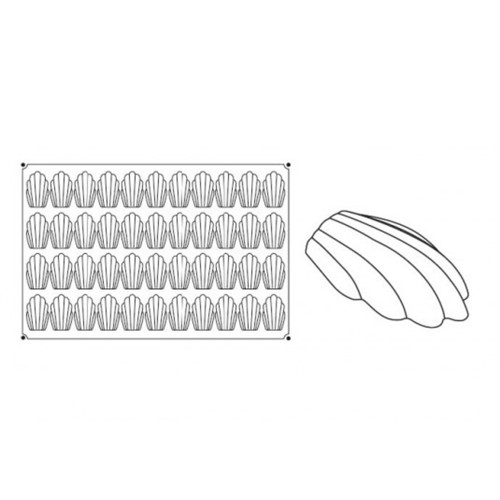 Pavoni Pavoflex Madeleines - 44 Indents