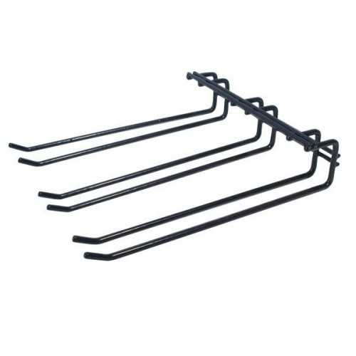 Overhead Glass Hanger Triple Row - Black