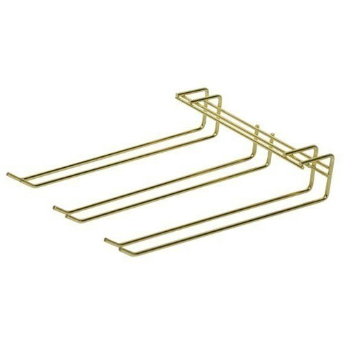 Overhead Glass Hanger - Triple Row - Brass