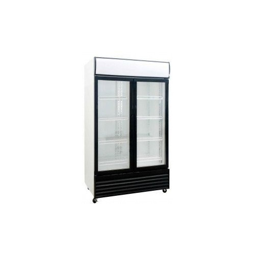 Saltas Double Glass Door Fridge 1000 Litre