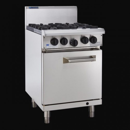 Luus Professional 4 Burner Cooktop & Oven - With Flame Failure & Pilot